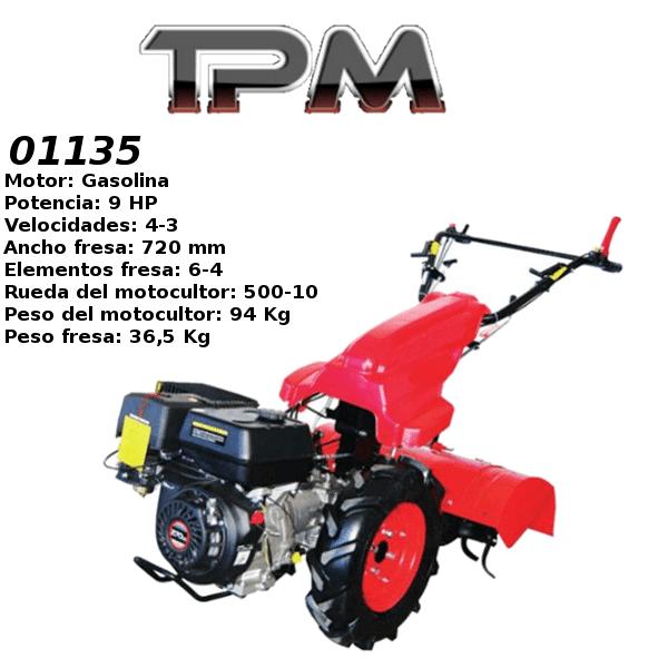 Motocultores gasolina TPM 01135