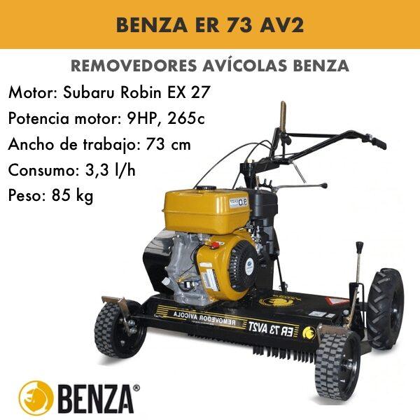 Removedor avícola BENZA ER 73 AV2 motor SUBARU