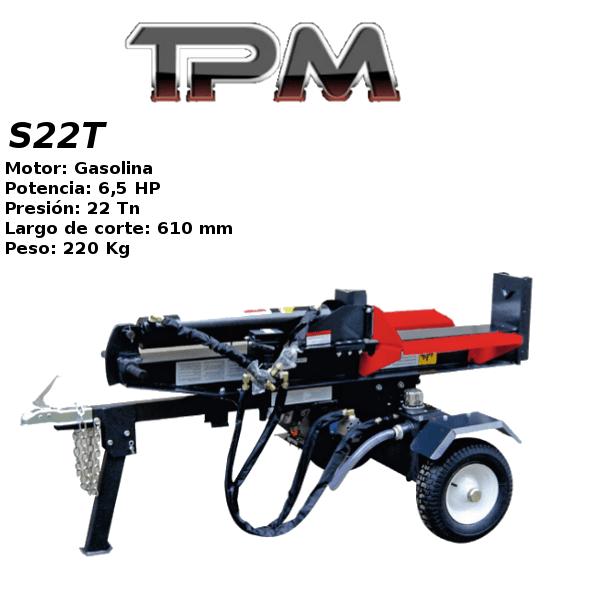 Astilladora leña TPM S22T