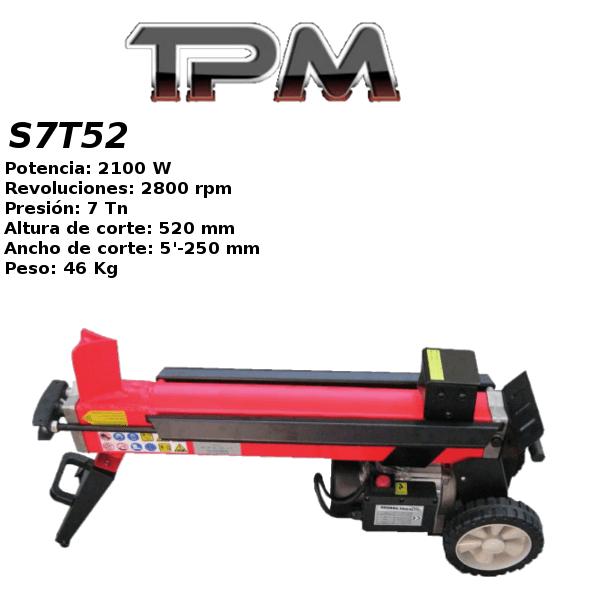 Astilladora leña TPM S7T52
