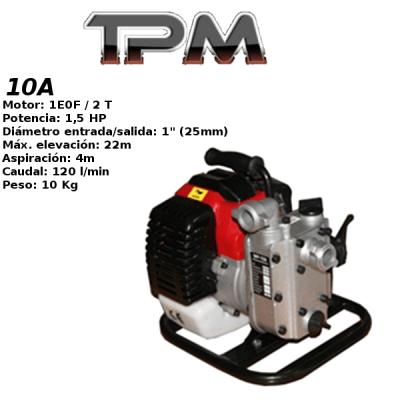 Motobomba agua TPM 10A