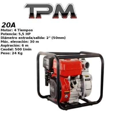 Motobomba agua TPM 20A