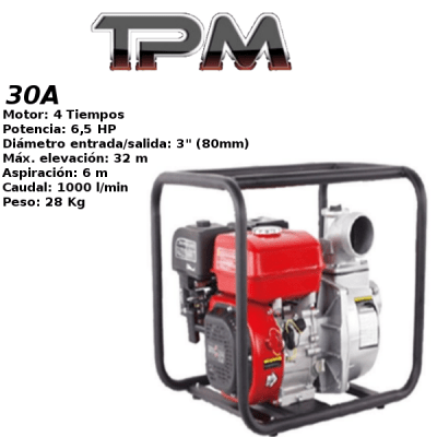 Motobomba agua TPM 30A