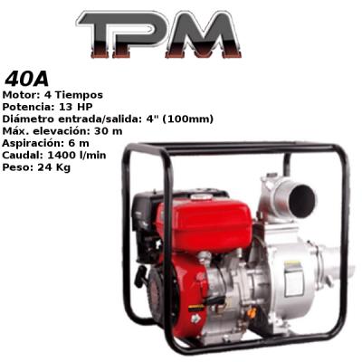 Motobomba agua TPM 40A