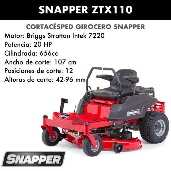 Cortacesped giro cero Snapper ZTX110