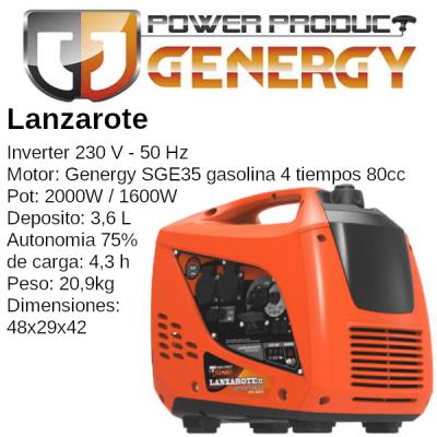 Generador Inverter Genergy Lanzarote