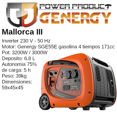 Generador Inverter Genergy Mallorca III