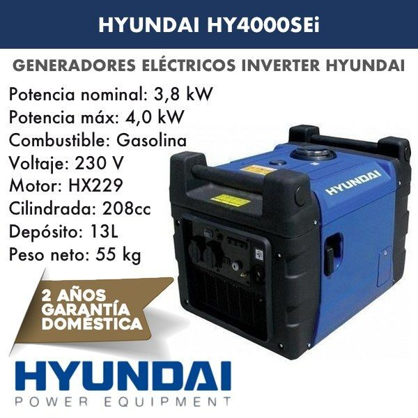 Generadores Inverter HY4000SEi Hyundai gasolina