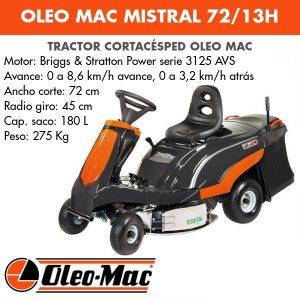 Tractor cortacesped Oleo Mac MISTRAL 72/13H