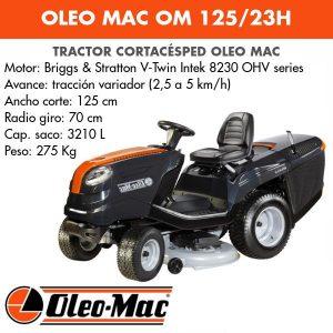 Tractor cortacesped Oleo Mac OM 125 23H