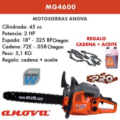 Motosierra Anova MG4600