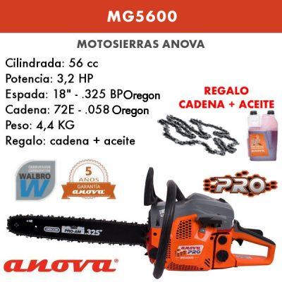 Motosierra Anova MG5600