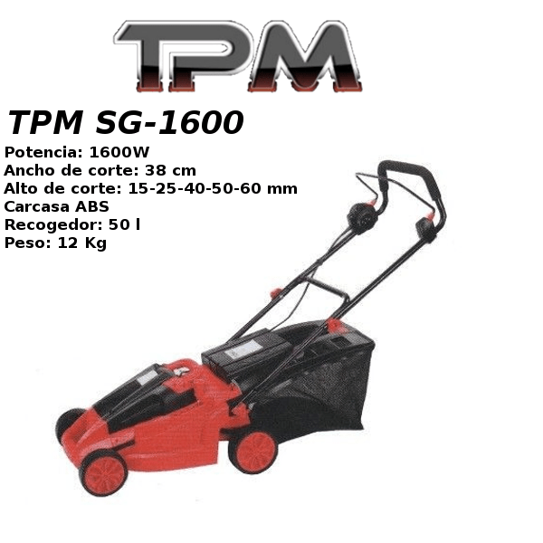 Cortacesped electrico TPM SG-1600