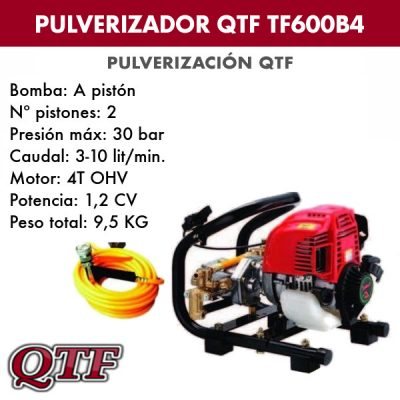 Grupo pulverizacion QTF 600 B4 4TPOS