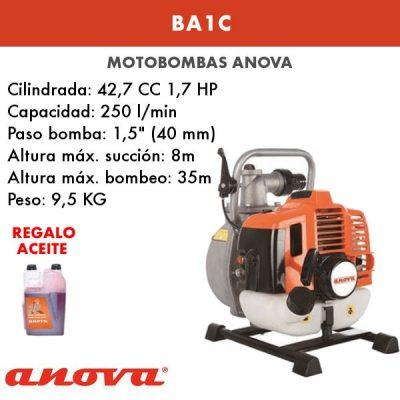 Motobomba agua Anova BA1C