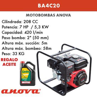 Motobomba agua Anova BA4C20