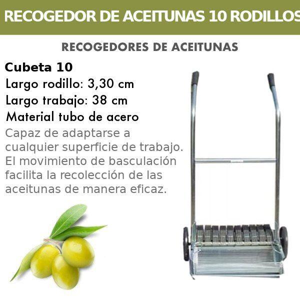 Recogedor de aceitunas de 10 Rodillos