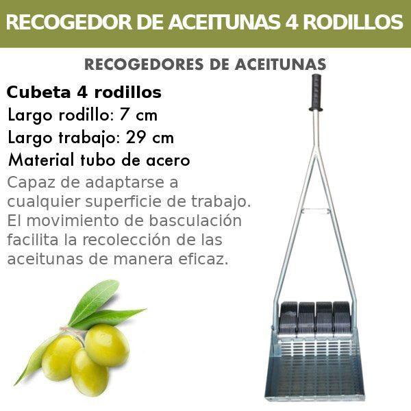 Recogedor de aceitunas con 4 Rodillos