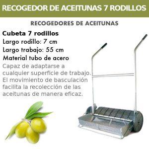 Recogedor de aceitunas con 7 Rodillos