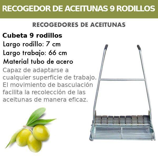 Recogedor de aceitunas de 9 Rodillos