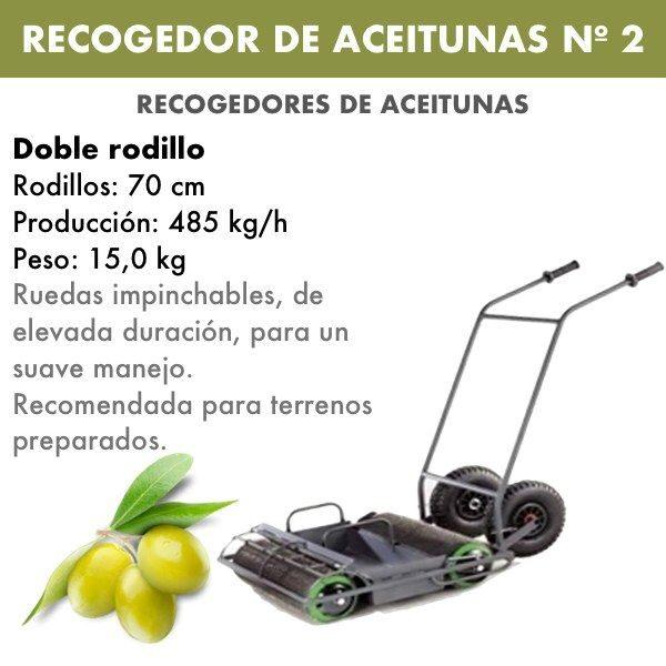 recogedor de aceitunas nº2 doble rodillo