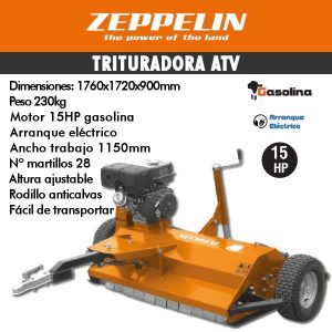 Trituradora zeppelin ATV