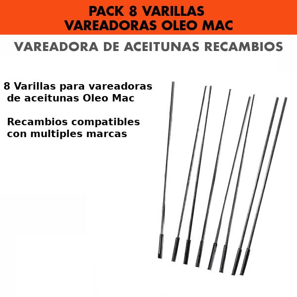 Pack 8 Varillas Vareadora de aceitunas Oleo Mac