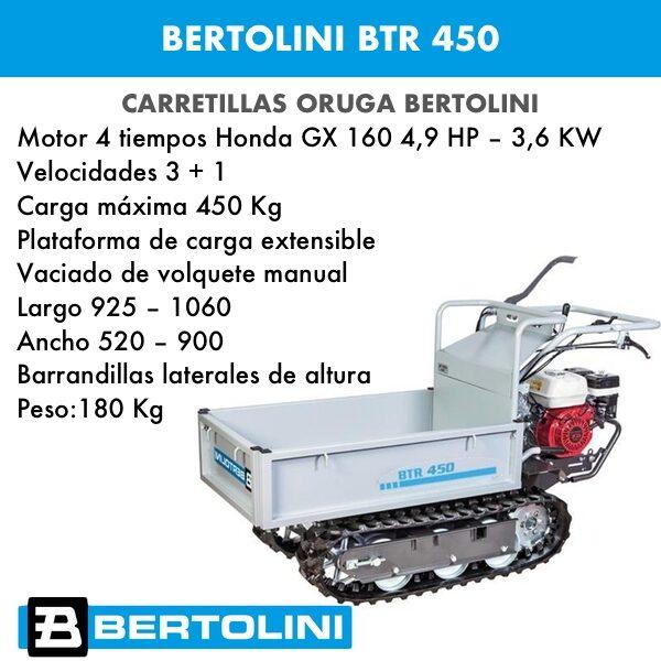 Carretilla oruga Bertolini BTR 450 motor Honda