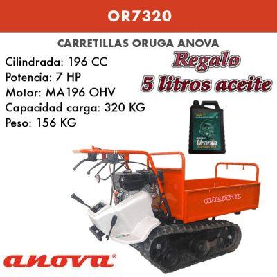 Carretilla Oruga Anova OR7320 320kg