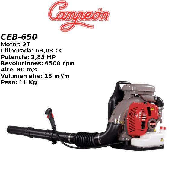 Soplador Campeon CEB-650 2,85HP