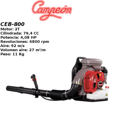 Soplador Campeon CEB-800 4,08HP