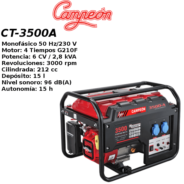Generador electrico campeon CT-3500A