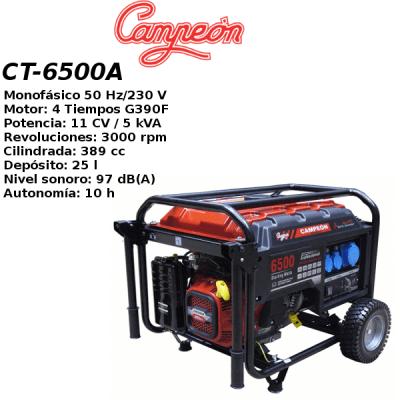 Generador electrico campeon CT-6500A