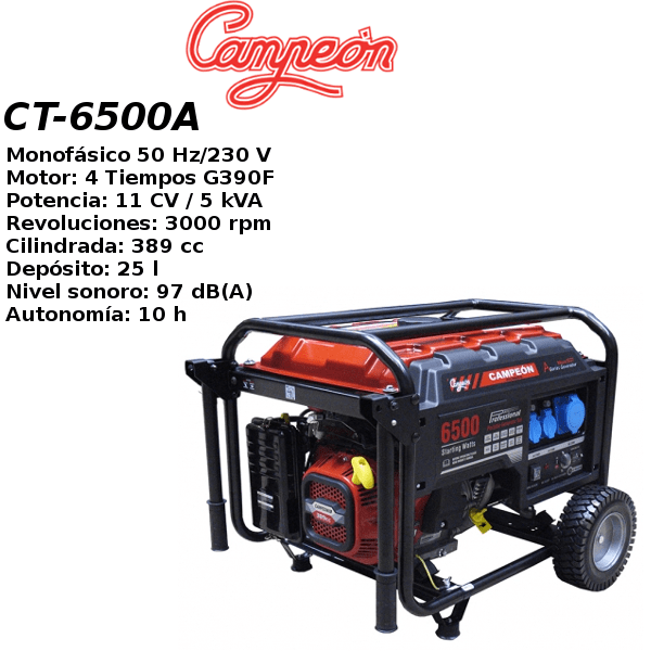 Generador electrico campeon CT-6500A