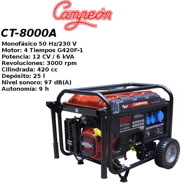 Generador electrico campeon CT-8000A