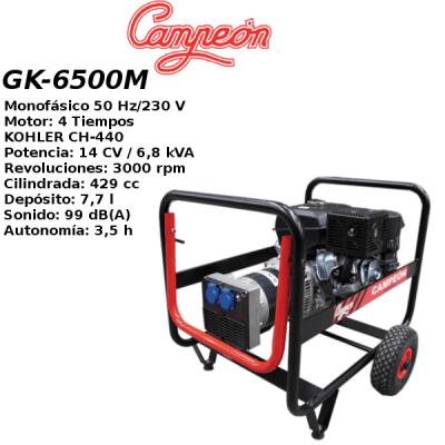 Generador electrico campeon GK-6500M