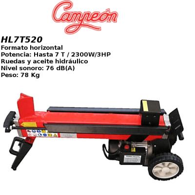 Astilladora leña Campeon HL7T520