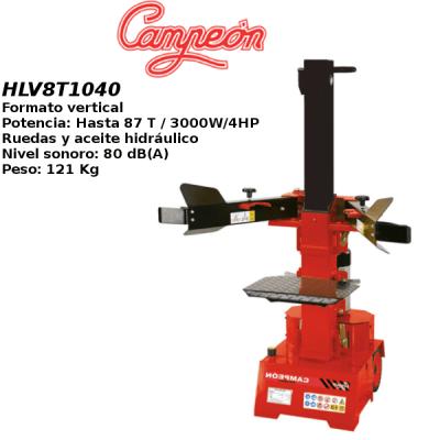 Astilladora leña Campeon HLV8T1040