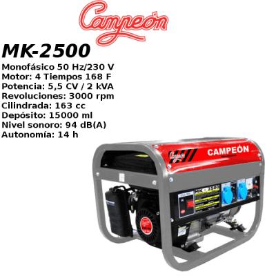 Generador electrico campeon MK-2500