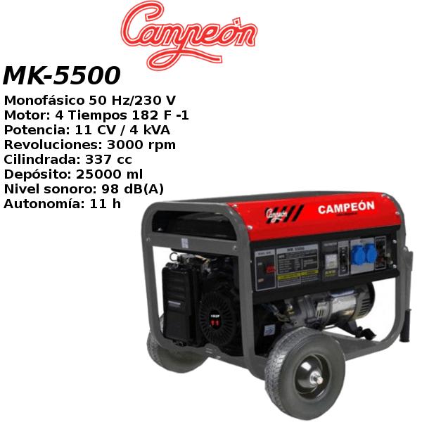 Generador electrico campeon MK-5500