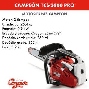 Motosierra Campeon TCS-2600 PRO