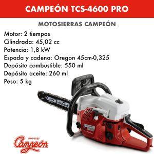 Motosierra Campeon TCS-4600 PRO