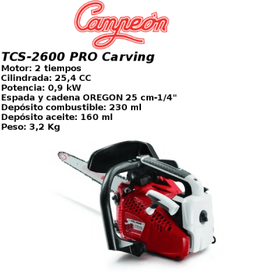 Motosierra Campeon TCS-2600 PRO Carving