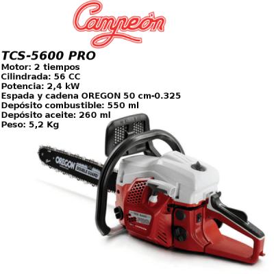 Motosierra Campeon TCS-5600 PRO