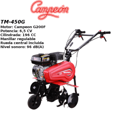 Motoazada Campeon TM-450G 6,5cv