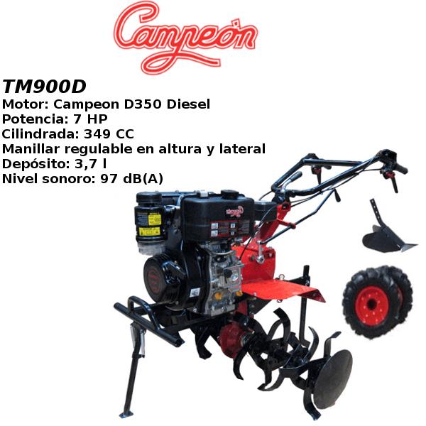 Motoazada Campeon TM900D 7cv DIESEL