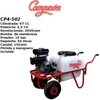 Carretilla sulfatadora Campeon CP4 502