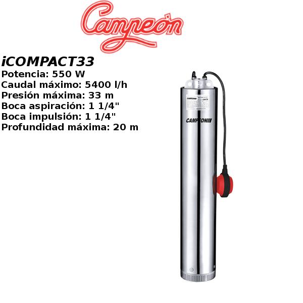 Bomba de pozo campeon iCOMPACT33