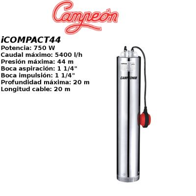 Bomba de pozo campeon iCOMPACT44