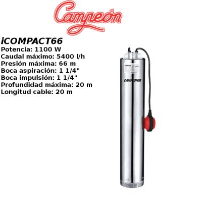 Bomba de pozo campeon iCOMPACT66